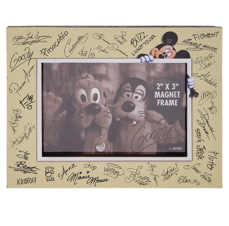 Disney Photo Frame Magnet Character Autograph 2 X 3