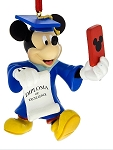 Disney Christmas Ornament - Graduation - Mickey Mouse Selfie