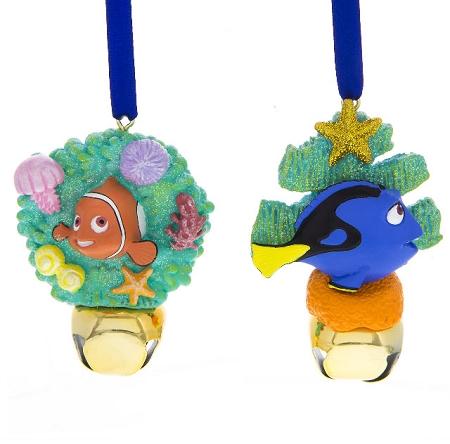 - Disney Christmas Ornament Set - Nemo And Dory Bells