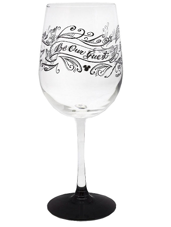 Disney Be My Guest White Wine Glass Part of the Beauty and the Beast Collection