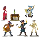 Disney Figurine Play Set - Pirates of the Caribbean - 6 Piece
