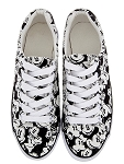 Disney Tennis Shoes for Women - Classic Mickey Mouse - Black & White