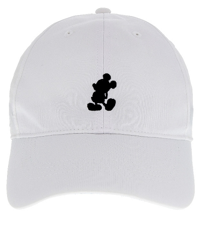37c0652150a Disney Hat - Nike Baseball Cap - Mickey Mouse Standing - White