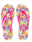 Disney Flip Flops for Women - Mickey Icons and Hearts