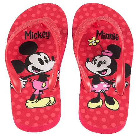 450c39ec49c72 Disney Flip Flops for Girls - Mickey and Minnie Mouse - Red