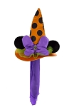 Disney Halloween Hat - Minnie Mouse Witch with Ears - Orange & Purple