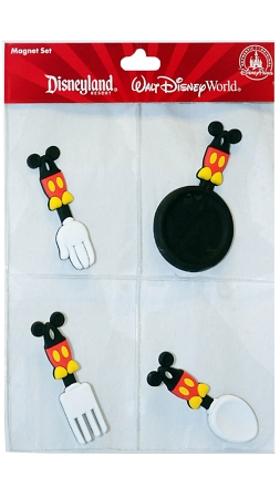 Disney Magnet Set - Mickey Mouse - Kitchen Utensils - 4 Pc.