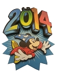 Disney Antenna Topper - 2014 Logo - Sorcerer Mickey Mouse