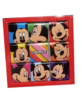 Disney Candy - Mickey Mouse Chocolate Square - 9 Pc.