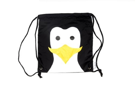Sea World Cinch Bag - Penguin - Big Face