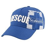 Sea World Hat - Baseball Cap - SeaWorld Rescue - Blue
