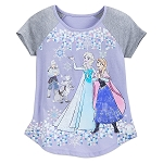 Disney Shirt for Girls - Frozen Fashion T-Shirt - Snowflakes