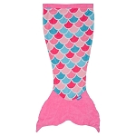 Sea World Throw Blanket - Whale Tail - Pink