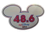 Disney Auto Magnet - 2014 RunDisney Mickey Mouse 48.6 - Small