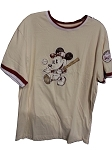 Disney Shirt for Men - Mickey Mouse Baseball - Tan
