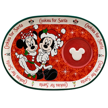 Disney Christmas Cookie Plate and Mug Set - Minnie and Mickey Mouse