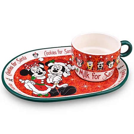 sc 1 st  Magical Ears Collectibles & Disney Christmas Cookie Plate and Mug Set - Minnie and Mickey Mouse