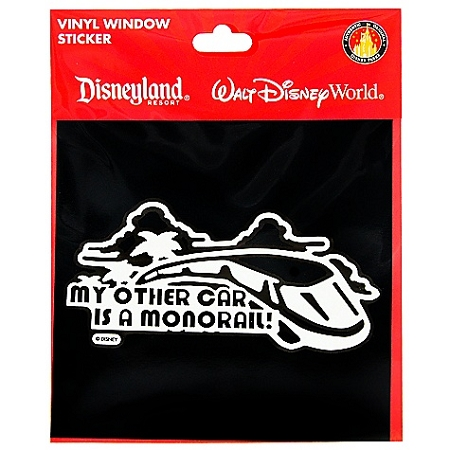 Disney Window Decal - My Other Car is a Monorail