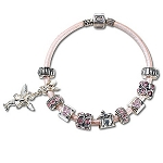 Disney Chamilia Bracelet - Pink Leather -- 7 1/2'' L