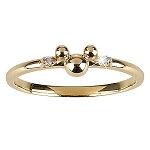 Disney Dream Collection Ring - 14-Kt. Gold and Diamond Mickey Mouse