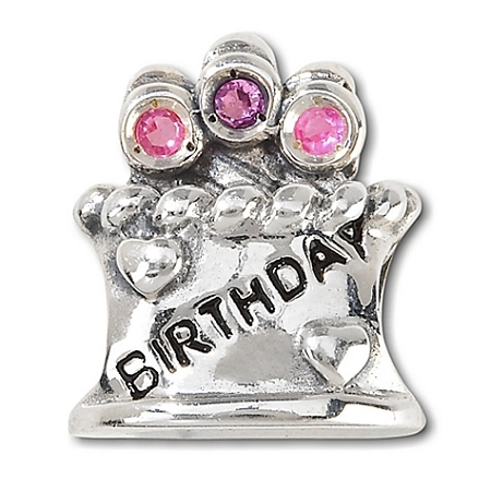 Disney Chamilia Charm - Sterling Silver Happy Birthday Cake