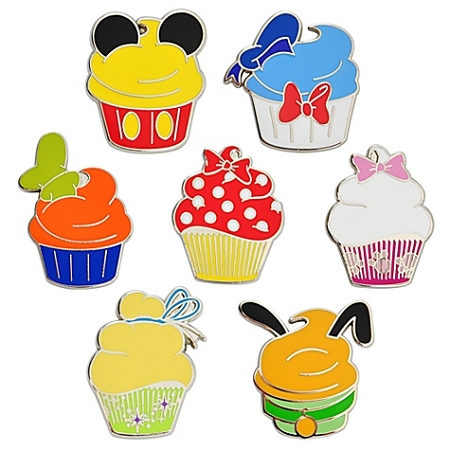 Disney Character Cupcake Pin Set - 7-Pc.