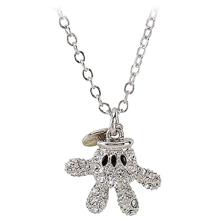 Disney Arribas Necklace - Mickey Mouse Crystal Glove