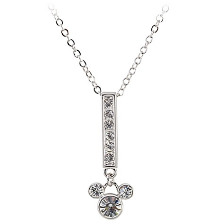 Disney Arribas Necklace - Swarovski Crystal Bar Mickey Mouse
