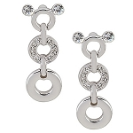 Disney Arribas Earrings - Swarovski Crystal Dangle Circles Mickey Mouse