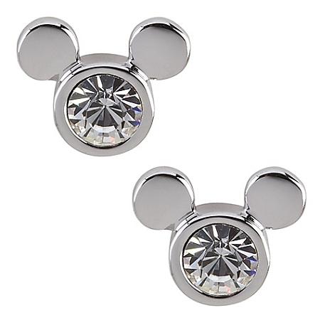 Disney Arribas Earrings - Clear Mickey Mouse Icon - Swarovsk
