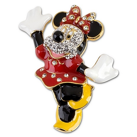 Disney Brooch Pin - Swarovski Crystal Minnie Mouse