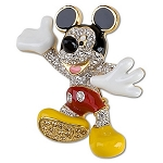 Disney Brooch Pin - Swarovski Crystal Mickey Mouse