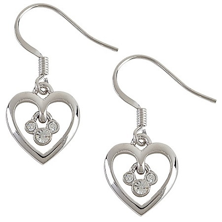 Disney Arribas Earrings - Mickey Mouse Heart French Back