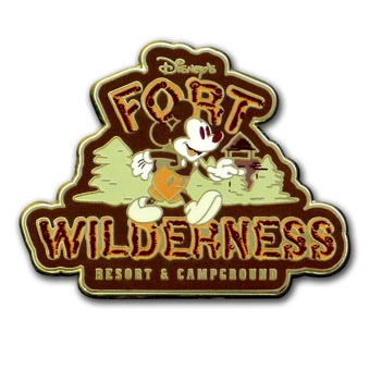 Disney Pin-  Fort Wilderness Resort & Campground Mickey