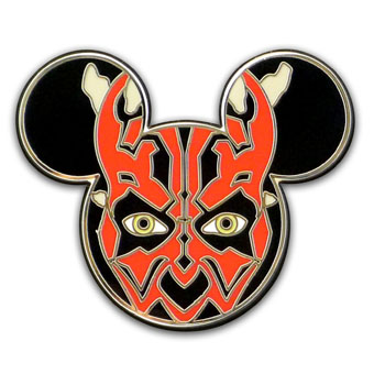 Disney Star Wars Pin - Mickey Mouse Icon - Darth Maul