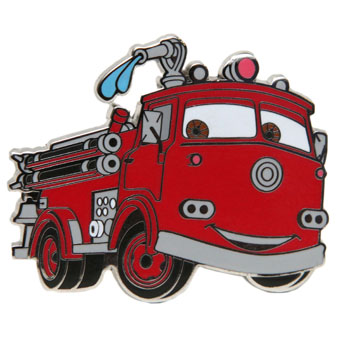 Disney Fire Engine Pin- Red