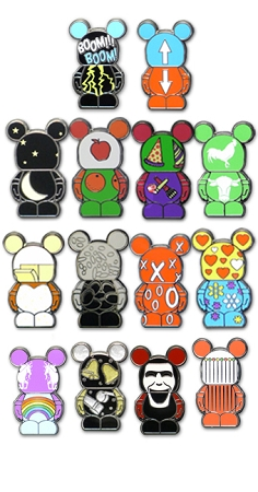 Disney Vinylmation Jr. Pin Pack - Series 5 Collectible - 5 Random