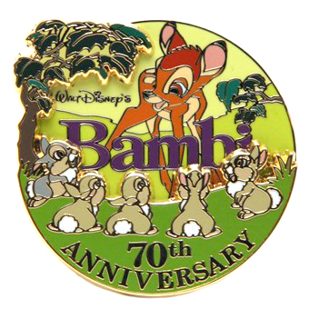 Disney Bambi Pin - 70th Anniversary - Limited Edition