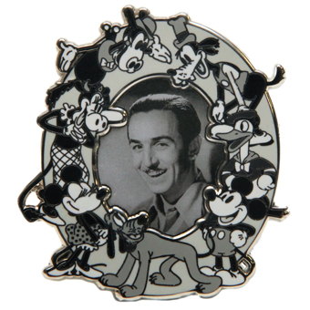 Disney Characters Photo Pin - Walt Disney and Vintage