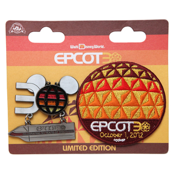 Disney Epcot Pin - 30th Anniversary Pin & Patch - Limited Edition