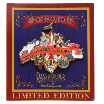 Disney New Fantasyland Pin - Grand Opening Storybook Circus Passholder