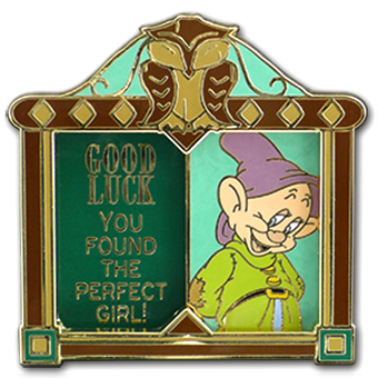 Disney Good Luck, Bad Luck Pin - February - Dopey - Limited Edition
