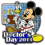 Disney Doctor's Day Pin -  2013 Donald Duck & Mickey Mouse - LE
