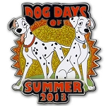 Disney Dog Days of Summer Pin - 2013 Pongo and Perdita - LE