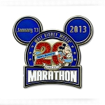 Disney Marathon Pin - 2013 20th Anniversary Logo