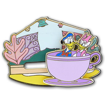 Disney Donald Duck Pin - Donald and Daisy Slider - Limited Edition