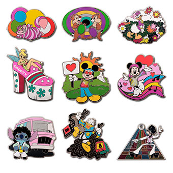 Disney Mystery Pin Set - 1970's Mickey Mouse and Friends - 2 Random