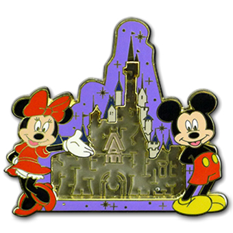 Disney Maze Pin - Mickey and Minnie Castle