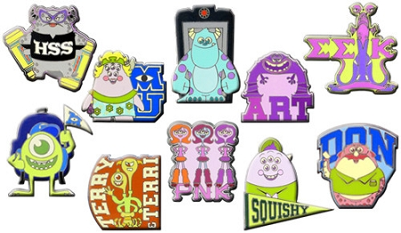 Disney Mystery Pin Set - Monsters University - 2 Random