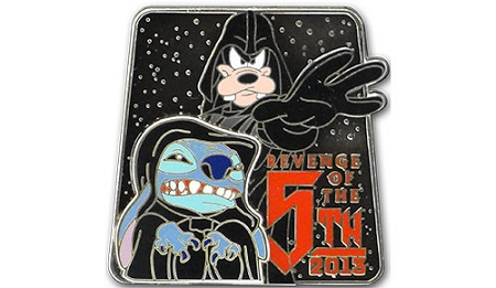 Disney Star Wars Pin - Revenge of the 5th - Stitch and Goofy - LE